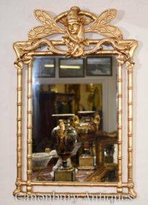 新艺术风格镀金码头镜子蜻蜓玻璃