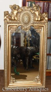 法国巴洛克式镀金小天使码头镜