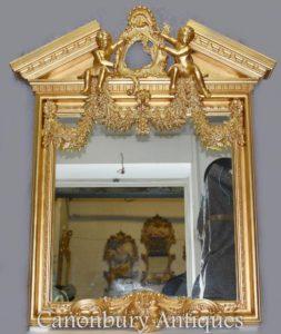 英文Palladian Gilt码头镜子天使新古典