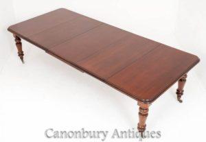 古董桃花心木维多利亚时代延伸餐桌大约1860年