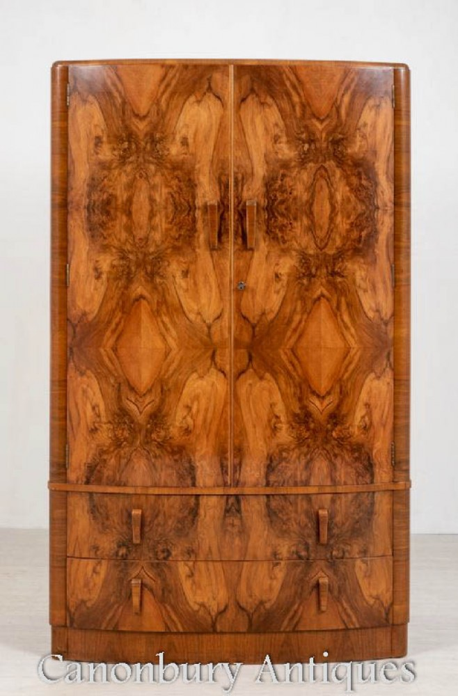 装饰艺术风格的衣柜壁橱-1930年古董